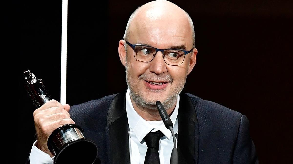 Juanjo Giménez, con el premio a mejor corto europeo por Timecode
