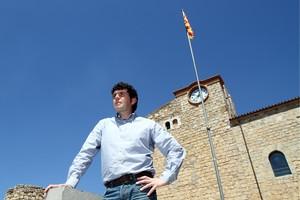 L'alcalde de Bellcaire d'Empordà, David Font, en una imatge de maig del 2012.