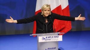 La líder del frente Nacional, Marine Le Pen.