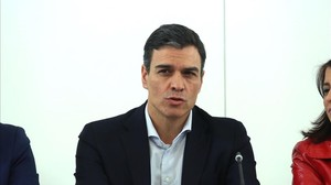 El líder del PSOE, Pedro Sánchez, el viernes en la sede del partido.