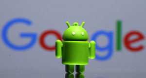 Logo 3D del icono de Android.