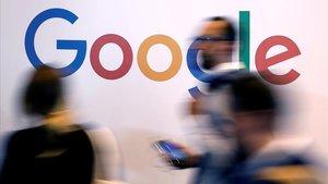 El logotipo de la multinacional tecnológica Google.