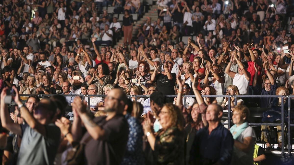 Los asistentes difrutaron de más de dos horas y mediade concierto.
