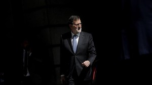 Mariano Rajoy, presidente del Gobierno, sale del Congreso de los Diputados, el pasado 15 de marzo.