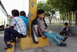 Niños inmigrantes que viajan sin compañía hacia los EEUU.