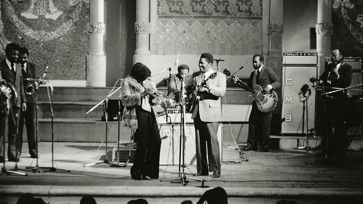 Miles Davis y B.B. King, en el Palau de la Música en 1973