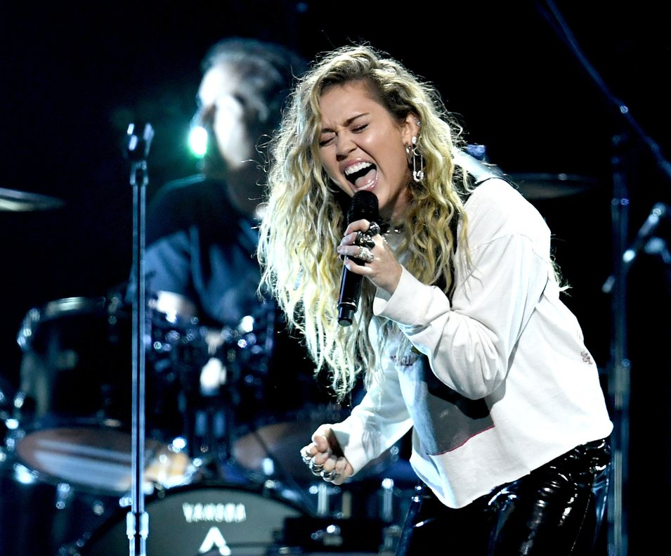 Miley Cyrus performs at I Am The HighwayA Tribute to Chris Cornell at the Forumin InglewoodCaliforniaKevin Winter Getty Images AFP