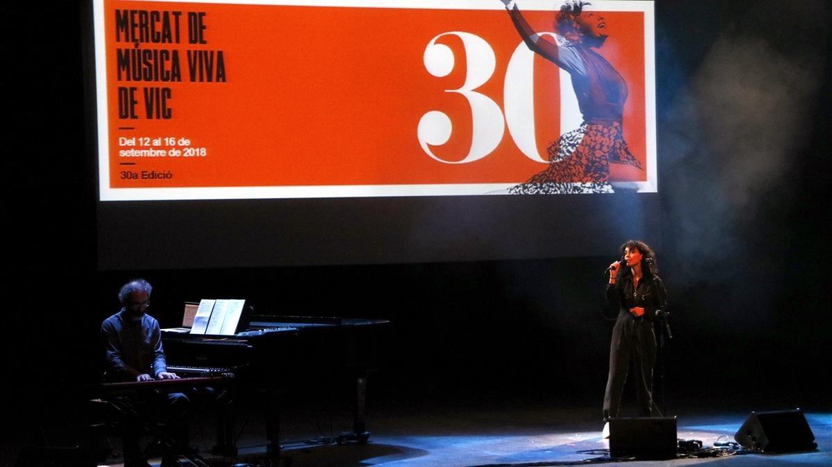 Núria Graham, en el concierto inaugural del MMVV