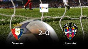 Osasuna gana 2-0 en casa al Levante