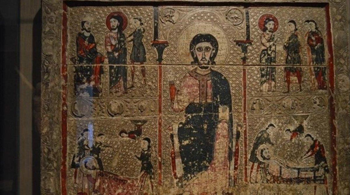 El Pantocrator de Sant Vicent de Treserra en el Museo de Lleida.