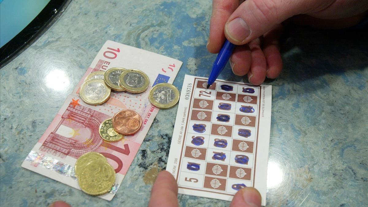 Partida de bingo en un casino de Barcelona.