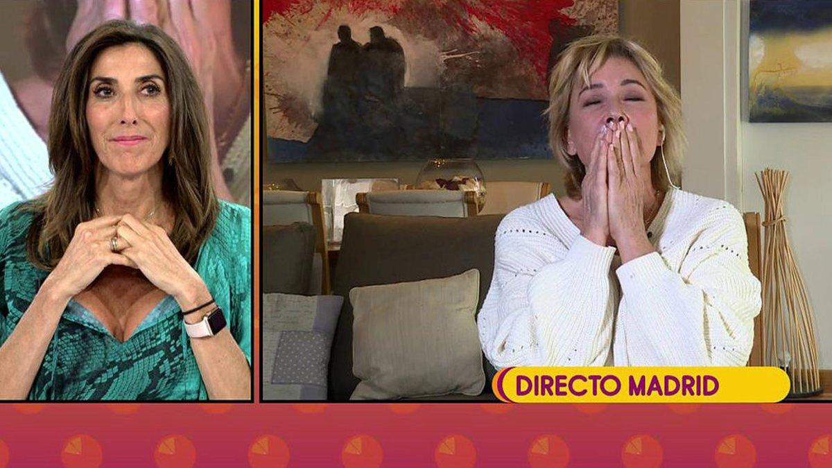 Paz Padilla y Mila Ximénez hablando en 'Sálvame'.