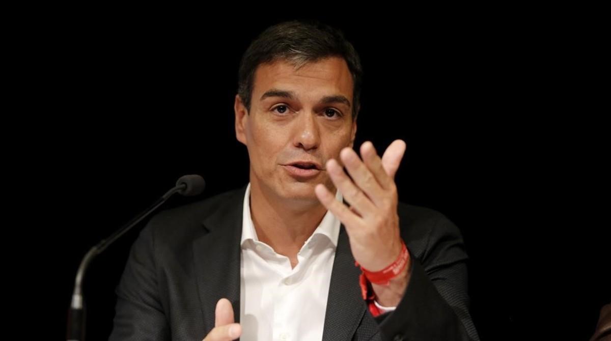 Pedro Sánchez, este lunes en Madrid.