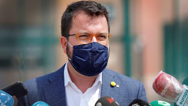 Pere Aragonès pide a los republicanos asintomáticos del Gobierno español que se hagan notar.
