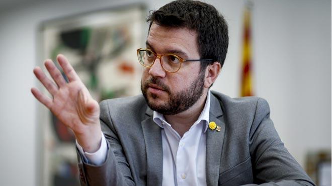 Pere Aragonès reclama al Gobierno elevar los objetivos de déficit para 2019 y 2020.