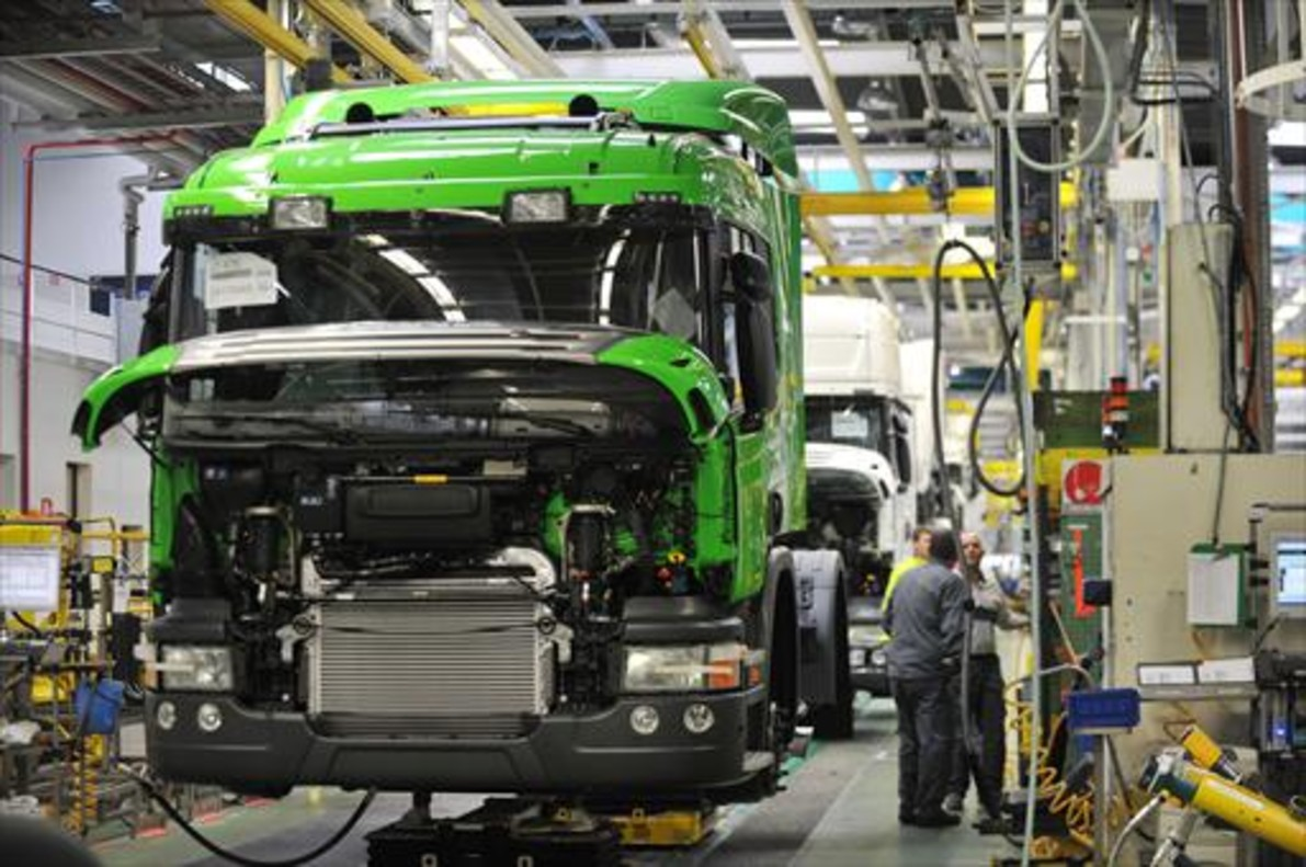 Planta de fabricación de camiones de Scania en Angers (Francia).