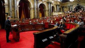 El 'president' Quim Torra,en el Parlament.