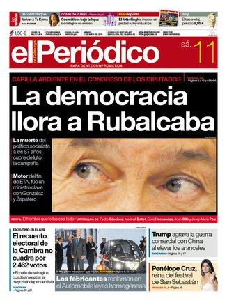 La portada de EL PERIÓDICO del 11 de mayo del 2019