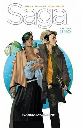 Portada de la primera de las cuatro entregas publicadas en España de la serie de ciencia ficción Saga, premiada como Mejor obra extranjera.