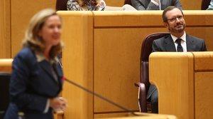 10/09/2019 El portavoz del PP en el Senado, Javier Maroto, durante la primera sesión plenaria de la XIII Legislatura en el Senado, en Madrid (España), a 10 de septiembre de 2019.