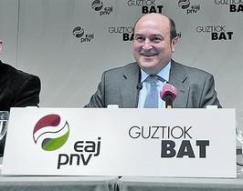El presidente del PNV, Andoni Ortuzar, en una foto de archivo en San Sebastián.