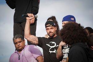 Ricky Martin durante las protestas en Puerto Rico.