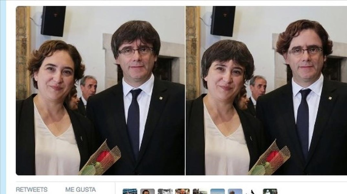 Un meme sobre el nuevo peinado de Carles Puigdemont.