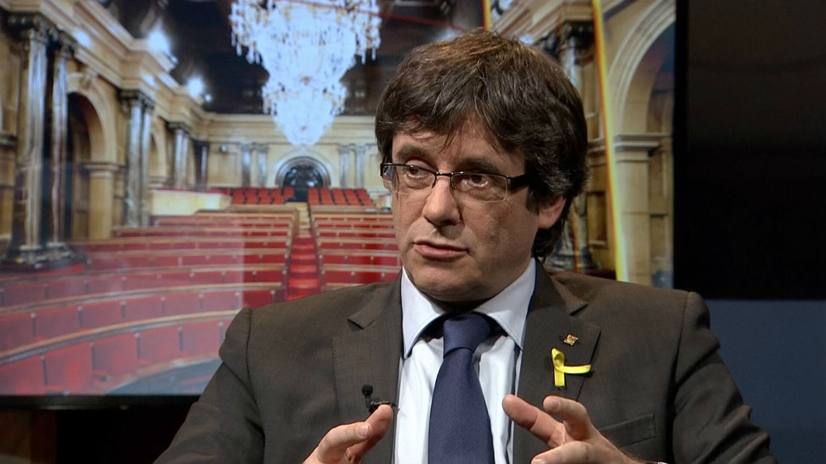 Puigdemont, entrevistado en TV-3.