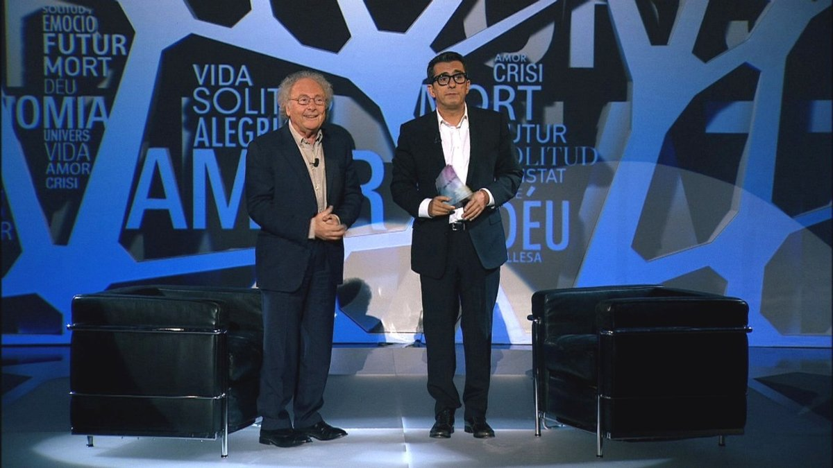 Eduard Punset y Andreu Buenafuente, en el programa Com va la vida.
