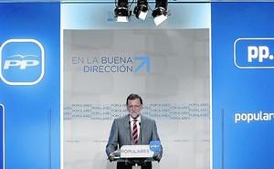Rajoy, en rueda de prensa tras reunirse el comité ejecutivo nacional del PP.
