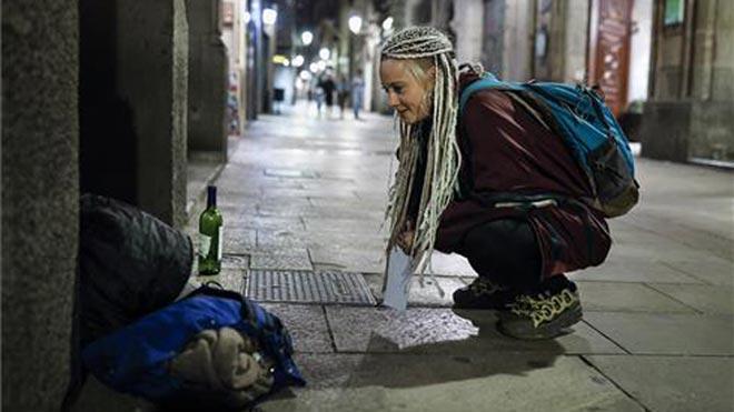 Recuento de personas sin hogar en Barcelona, organizado por la FundacióArrels.