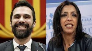 Roger Torrent y Marta Bosquet.