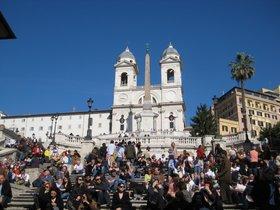 La escalinata de la Plaza de España de Roma.