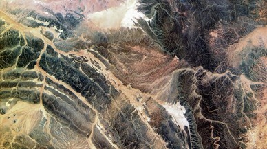 Sahara Occidental (África), imagen hiperespectral.