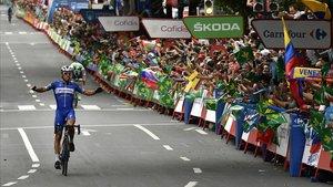 Philippe Gilbert triunfa en la Gran Vía de Bilbao.