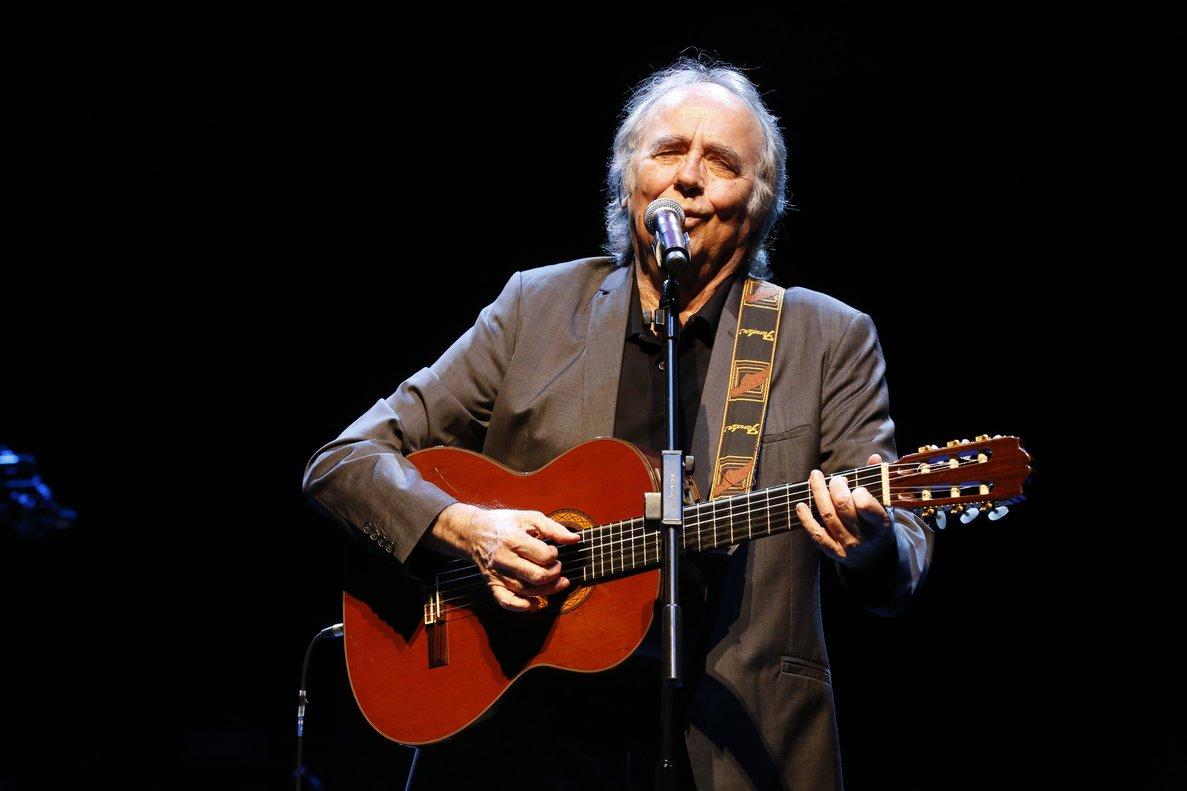 Joan Manuel Serrat, en el concierto de homenaje a Moncho en L'Auditori en enero del 2019.