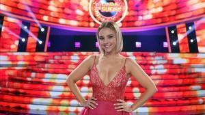 La cantante Chenoa, en el plató de 'Tu cara me suena' (Antena 3).