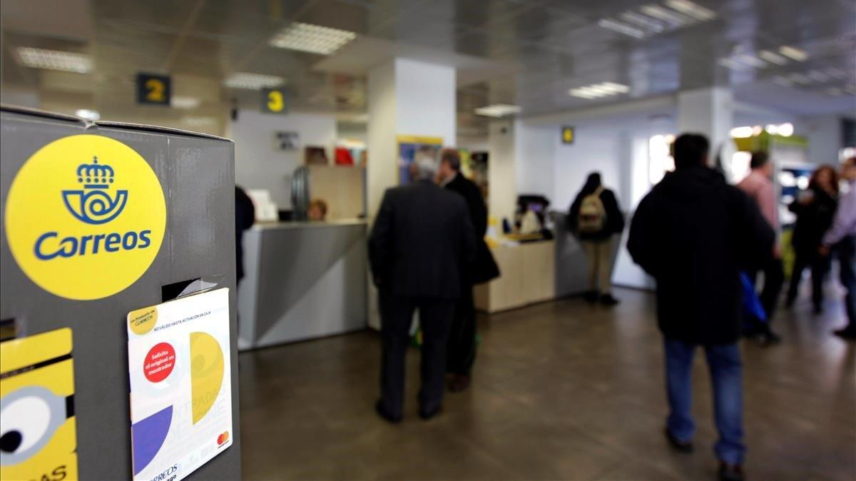 Una oficina de Correos de Madrid.