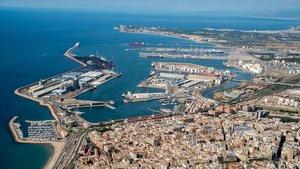 Vista aérea del Puerto de Tarragona.