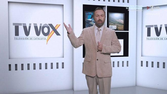 El Abascal de 'Polònia', controlando TV-3.