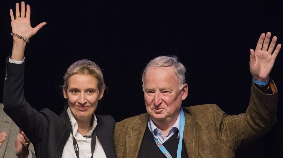 Weidel y Gauland, en el congreso.