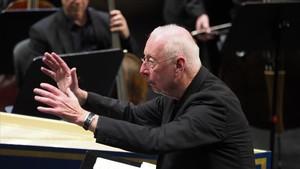 William Christie, en el Liceu, durante la versión concertantede la óperade Händel.
