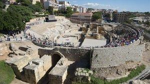 El anfiteatro romano de Tarragona, en una imagen de archivo.