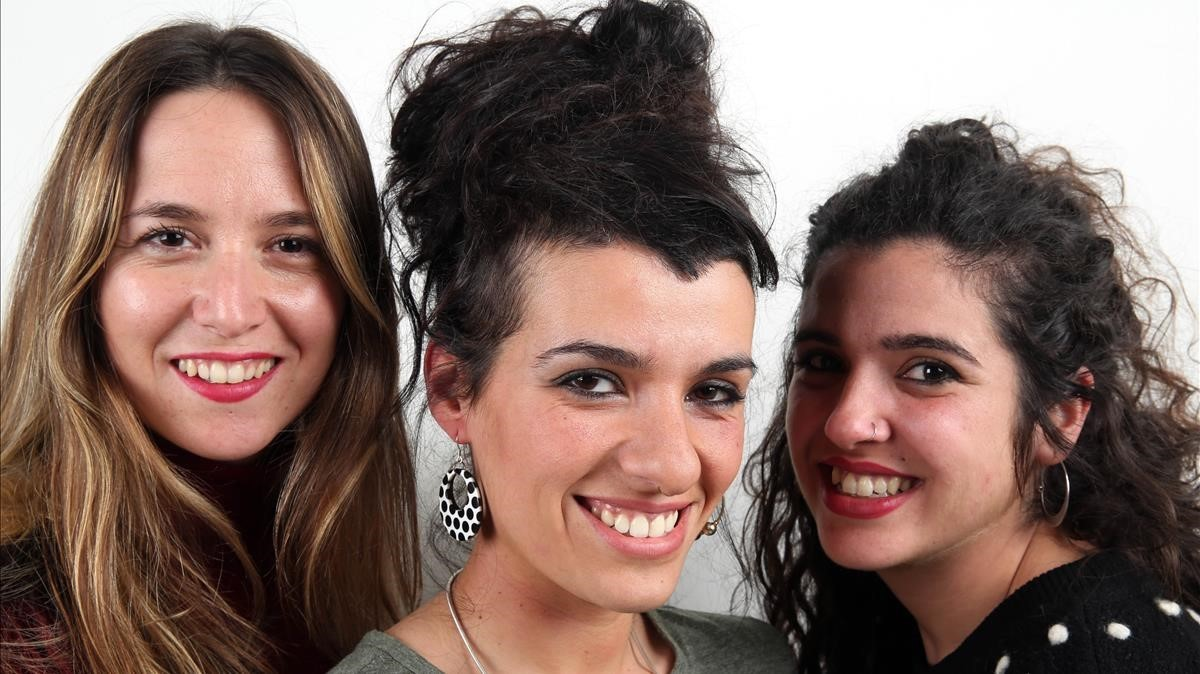De izquierda a derecha:Vicky Blum, Sheila Quero yEsther González, tres de las integrantes del quinteto Maruja Limón.