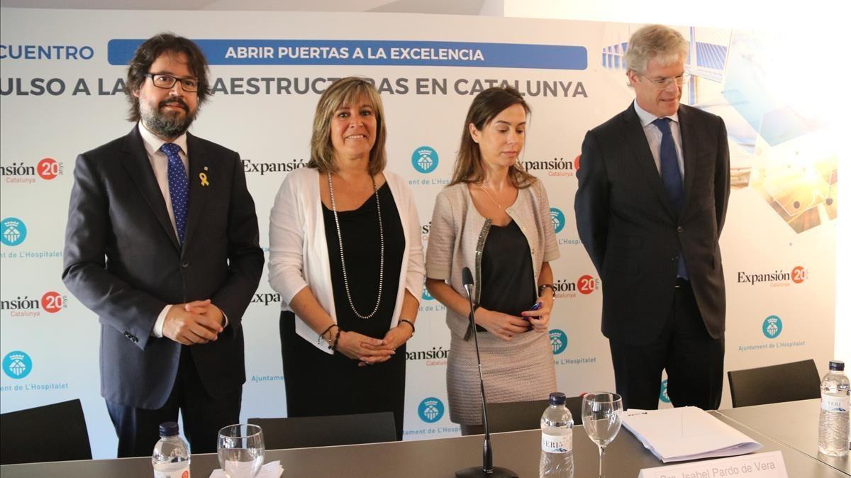 Ricard Font, Núria Marín e Isabel Pardo.