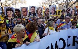 La Policia Nacional xifra en 18.000 persones els assistents a la manifestació independentista a Madrid
