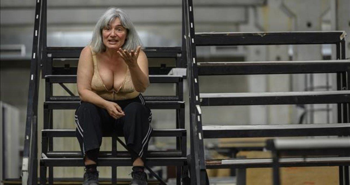 Montse Esteve, en una escena del monólogo del dramaturgo italiano Antonio Tarantino.