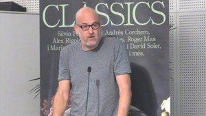 El director teatral Àlex Rigola, durante la presentacion del Festival.