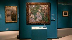 Una imagen de la exposición de pintores impresionistas españoles en Moscú.