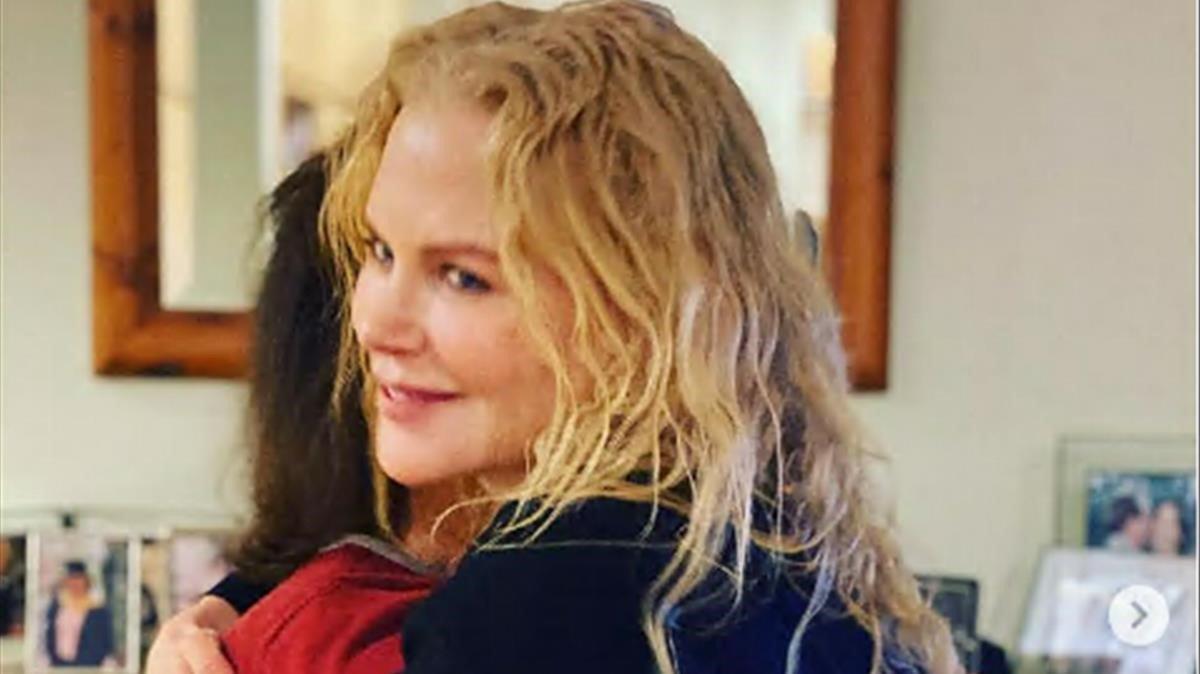 Nicole Kidman con su madre, Janelle.